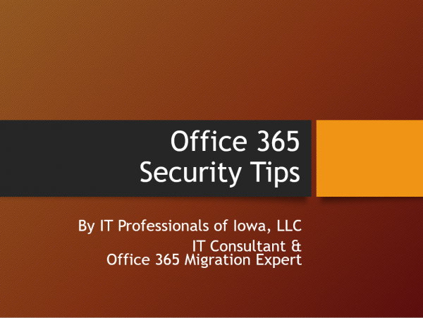 Office 365 Security Training